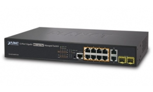 Planet GS-4210-8P2T2S - Switch 8x10/100/1000 Mb/s PoE + 2x100/10